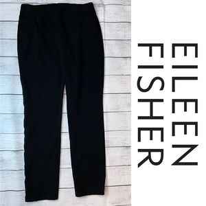 Eileen Fisher Soft Black Crepe Pull on Pants XS